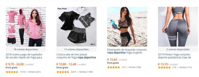 comprar ropa de deporte barata