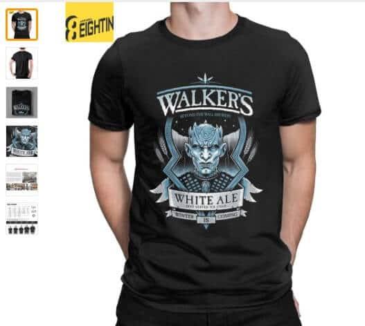 camisetas de los caminantes blancos