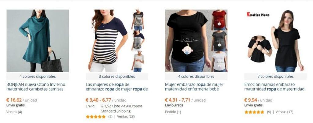 ropa embarazada aliexpress