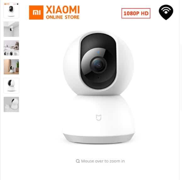 webcam HD de 360 ángulo inalámbrico mudo de uso casero,