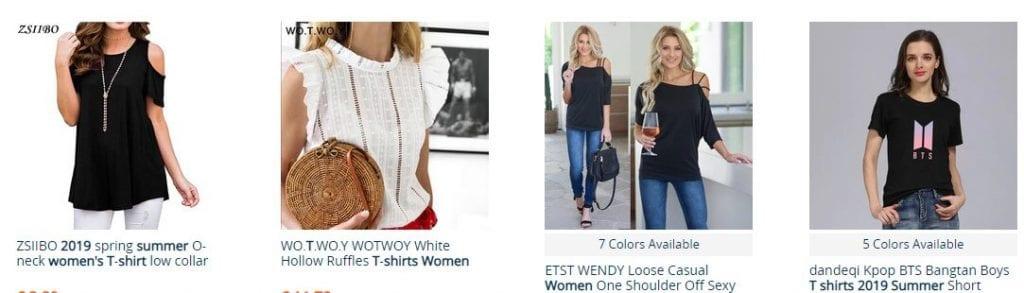 aliexpress camisetas mujer manga larga
