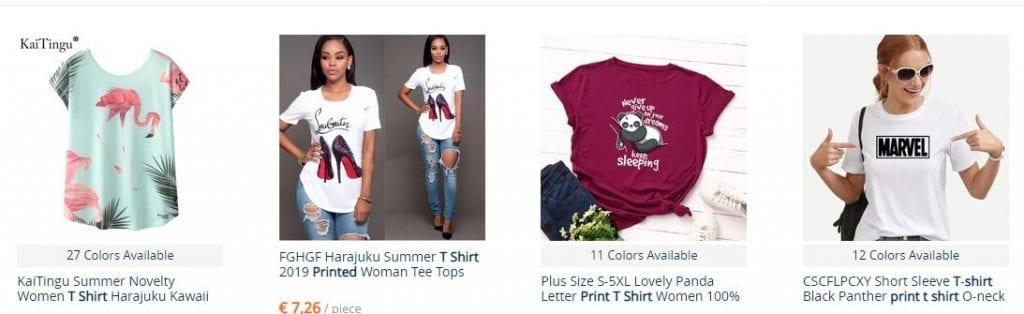 camisetas mujer baratas