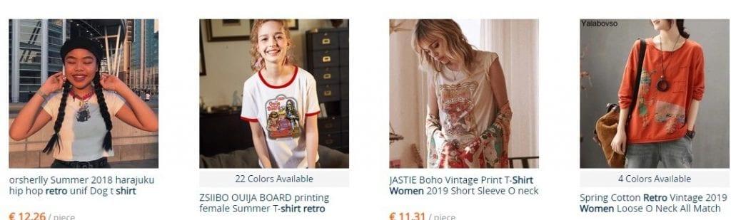 camisetas retro mujer