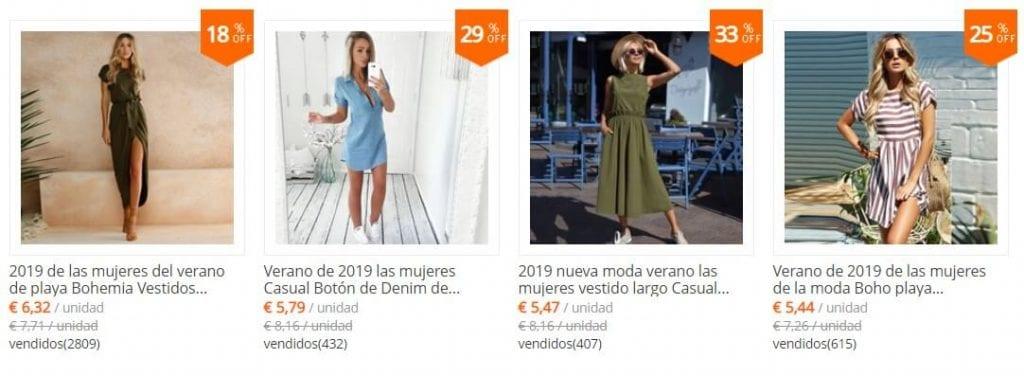 vestidos de mujer baratos