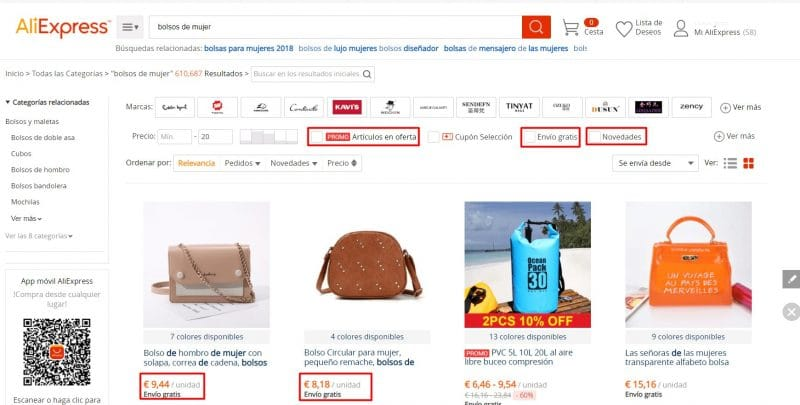 bolsos baratos chinos