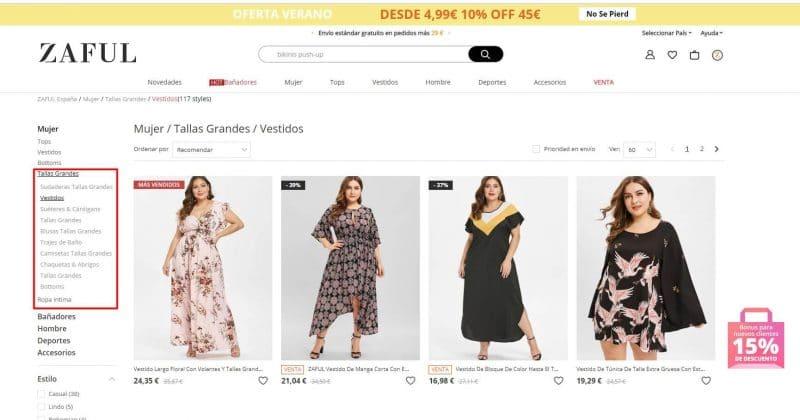 vestidos de tallas grandes