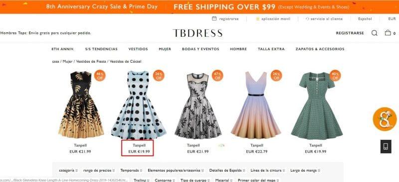 comprar vestido tallas grandes