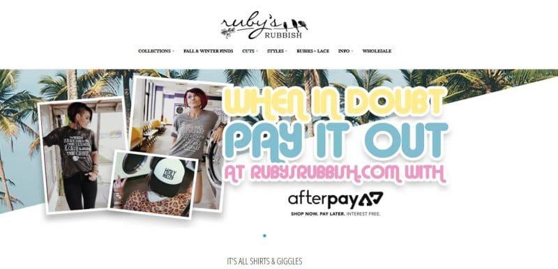 Ruby's Rubbish son una tienda online que vende ropa al por mayor
