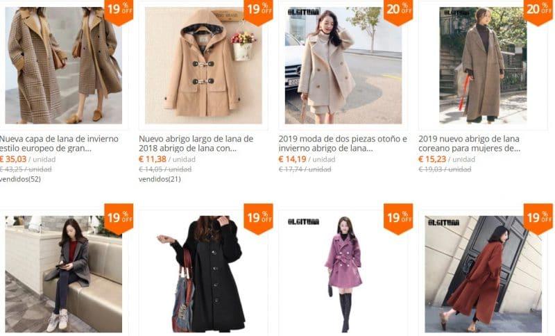 tienda de chaquetas en aliexpress