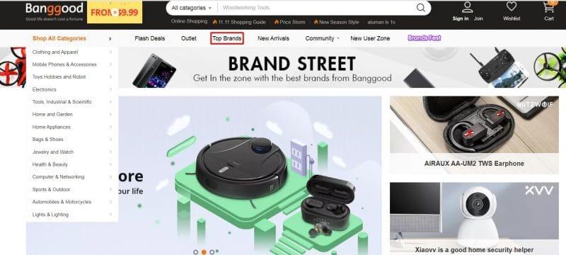 top marcas en Banggood