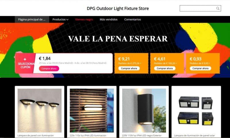 artículos de iluminación exterior en aliexpress