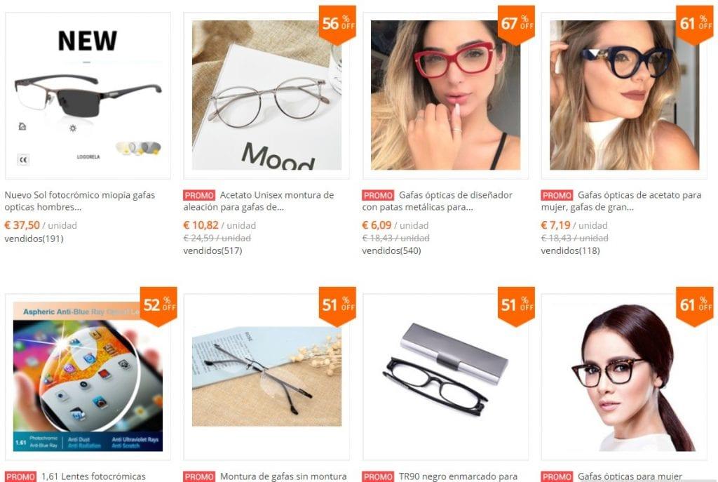 monturas de gafas baratas