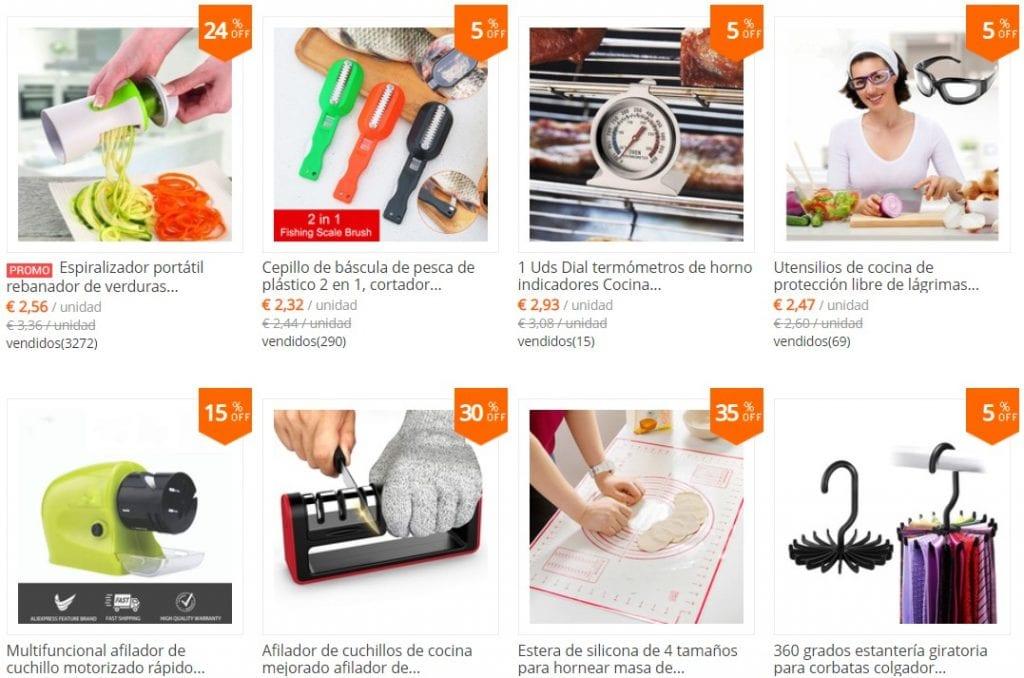 comprar utensilios de cocina al por mayor