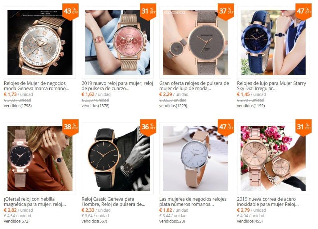 tiendas de relojes en aliexpress