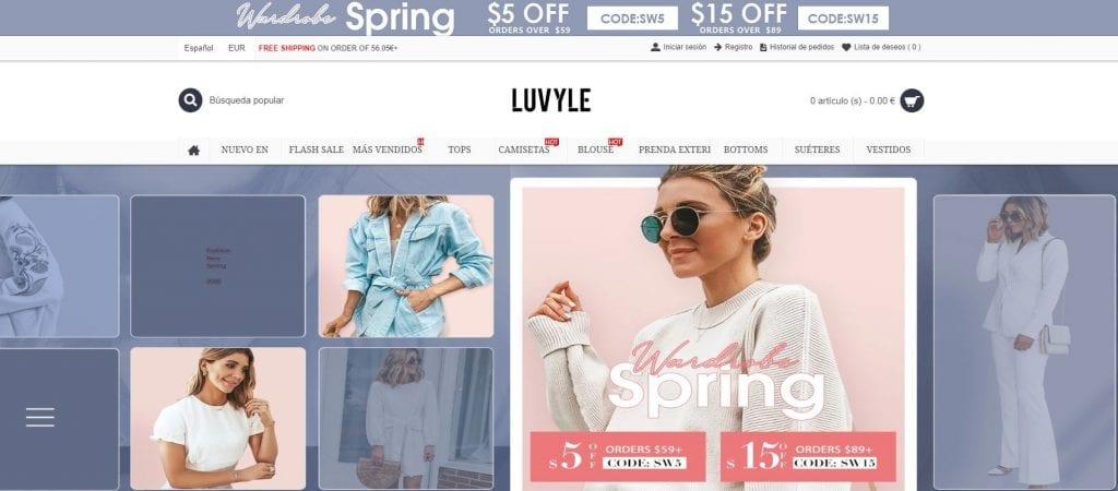 Tienda online china de ropa para mujer