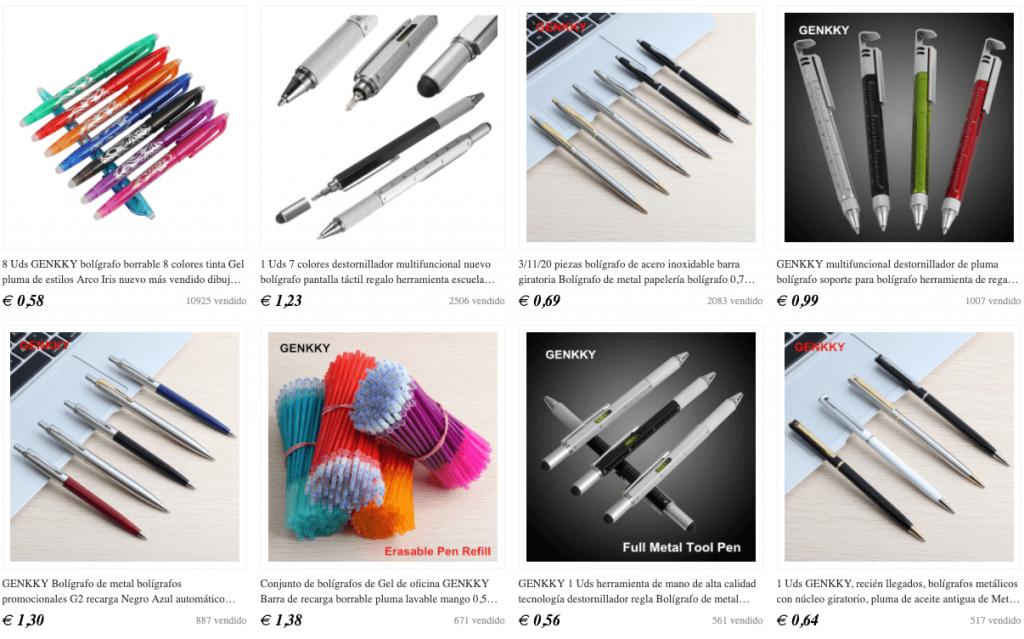 bolígrafos de helio para gráficos