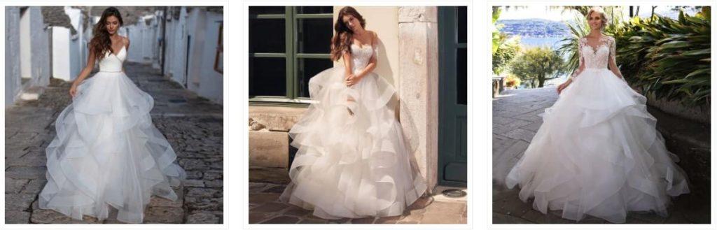 vestido de Boda de Princesa sin hombros