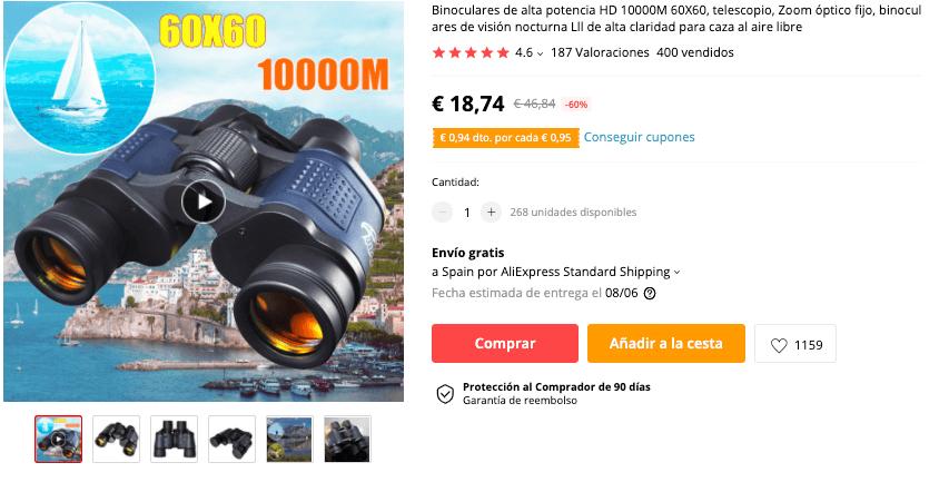 Binoculares de alta potencia HD