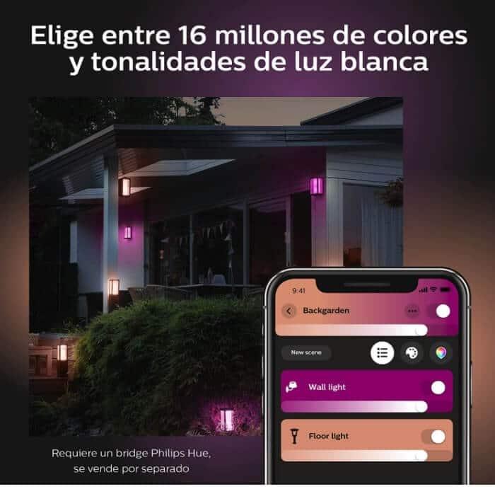 Philips Hue Impress Aplique Inteligente Exterior LED