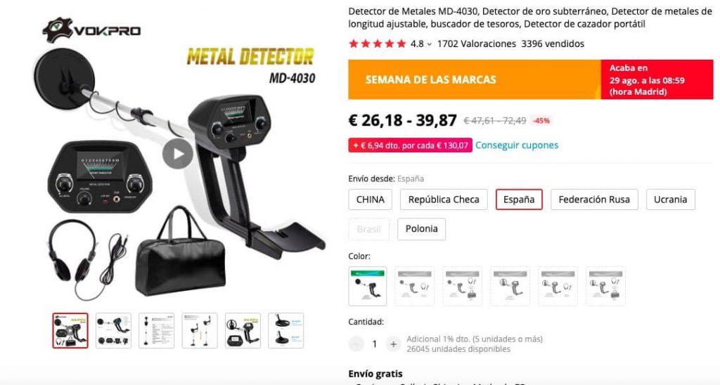 Detector de Metales MD-4030