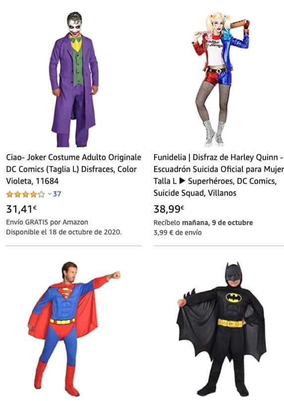 Disfraces DC COMICS