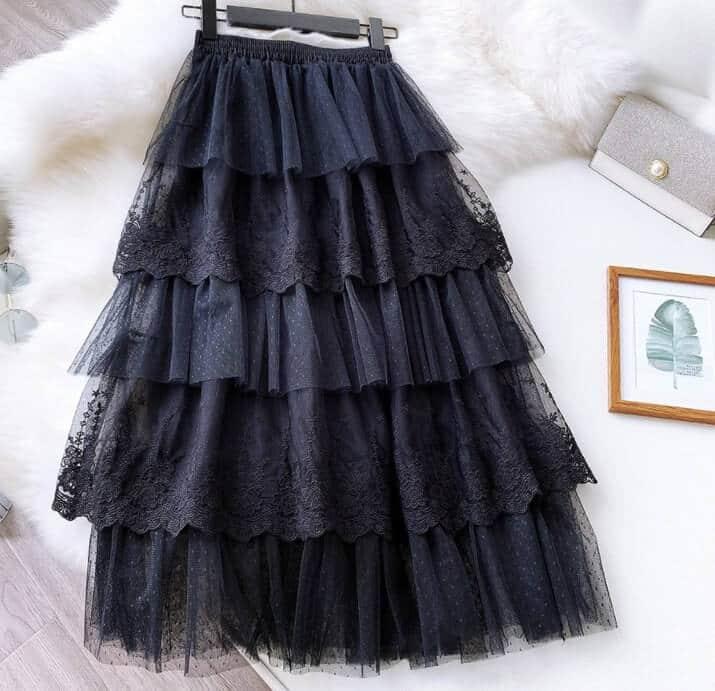 falda de tul larga para 15 años