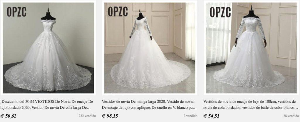 vestido de novia en aliexpress