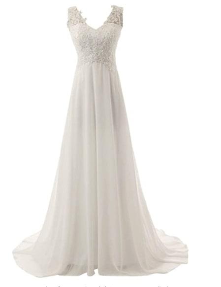 vestido novia amazon