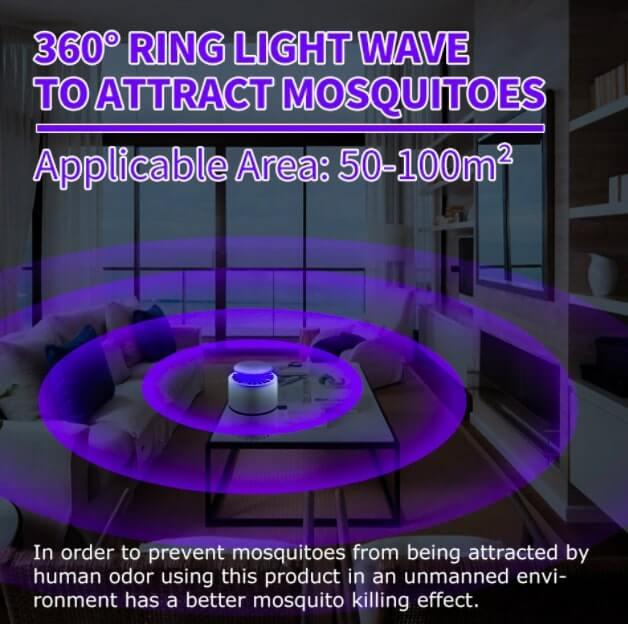Lámpara eléctrica antimosquitos
