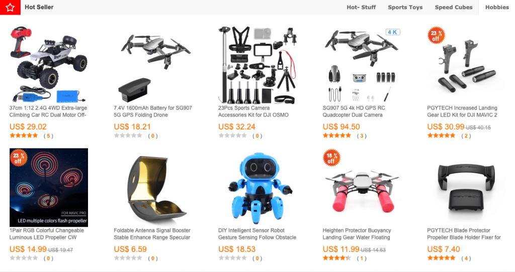 Comprar drones en china