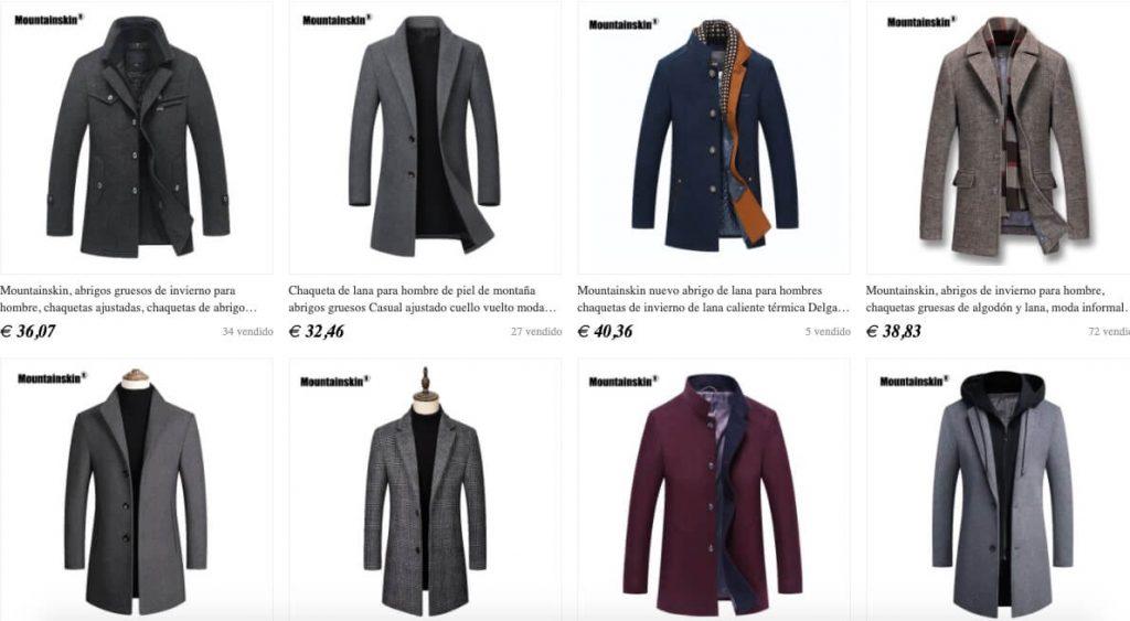 abrigos largos de lana