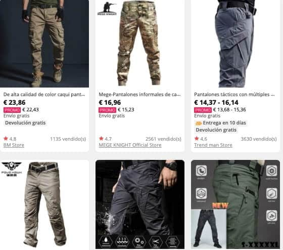 Pantalones tácticos 5.11