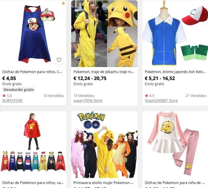 Disfraces Pokémon