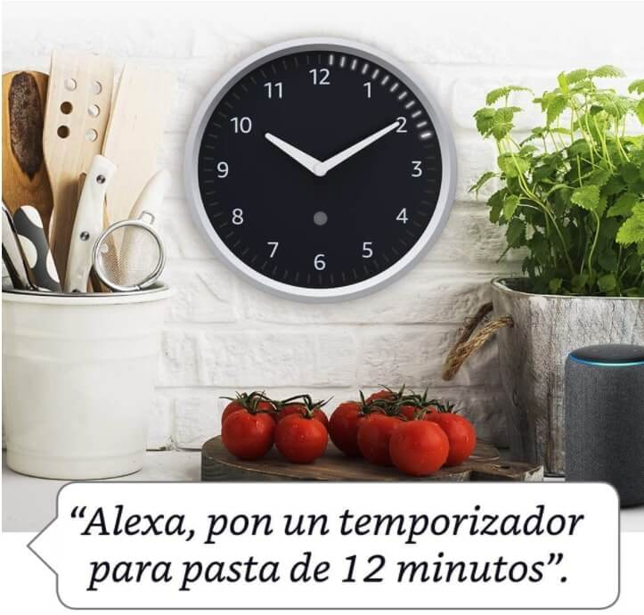 Reloj de pared de Echo