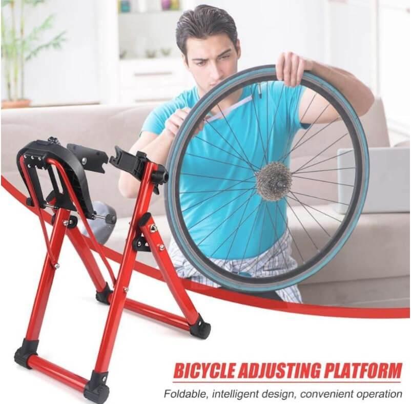 Soporte herramienta de reparación de bicicletas