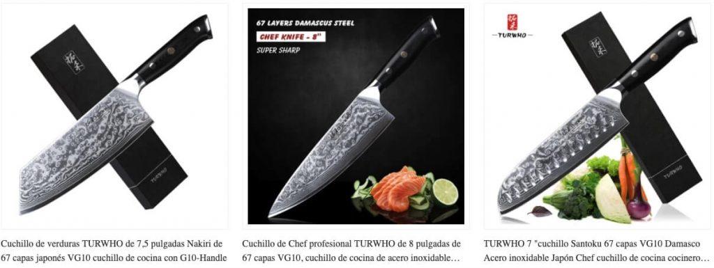 cuchillos baratos