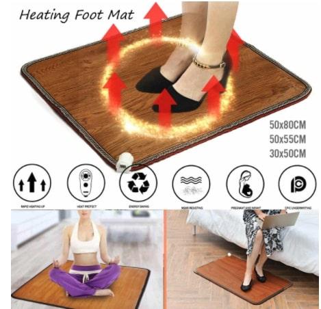Alfombra de pie calefactora para oficina