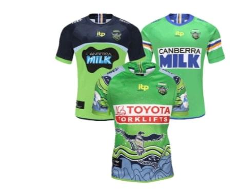 camiseta Canberra Raiders