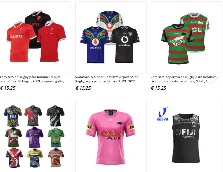 aliexpress camisetas rugby
