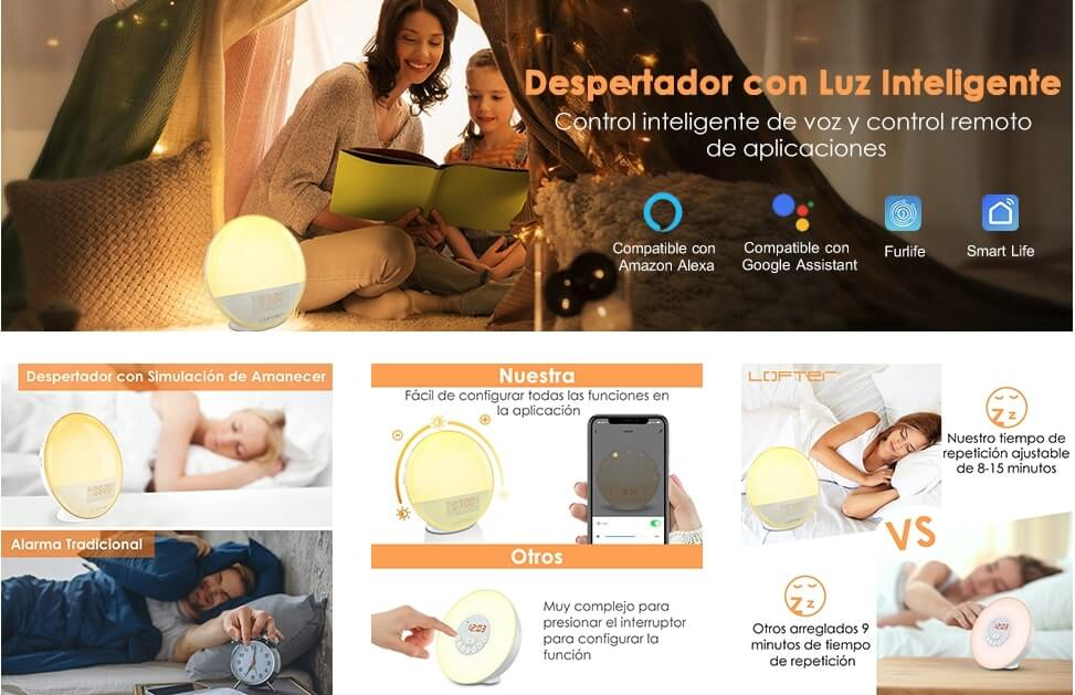 Despertador luz inteligente