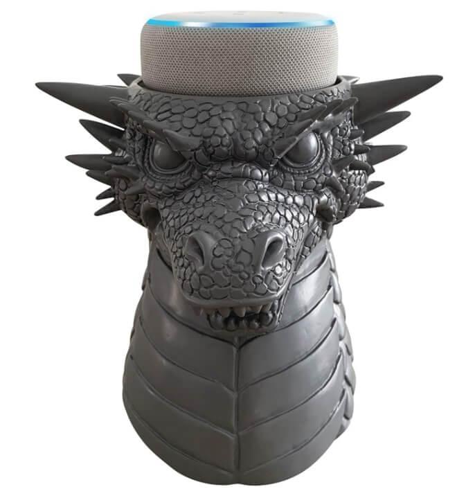 Soporte para Amazon Echo con diseño dragón