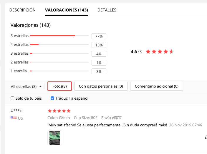 opiniones aliexpress plaza