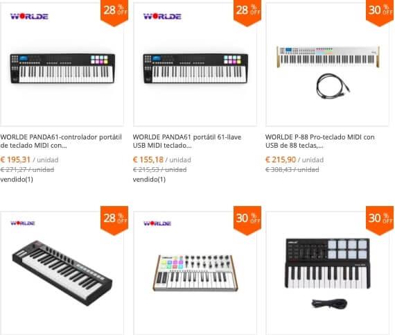 Tienda china especializada en teclados