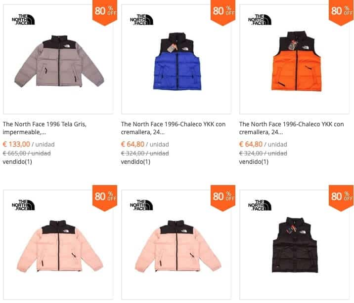 the north face outlet 80%