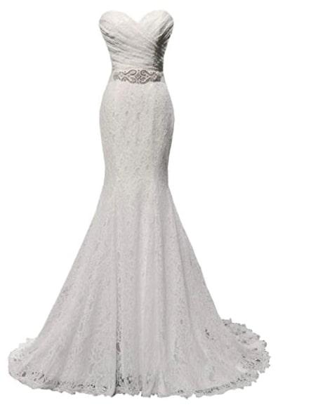 vestido de novia amazon