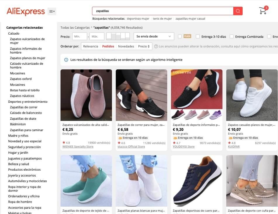 zapatillas aliexpress